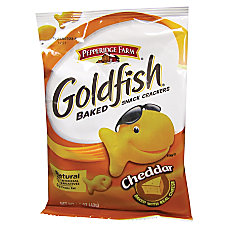 Pepperidge Farm Goldfish Shaped Crackers Cheddar
