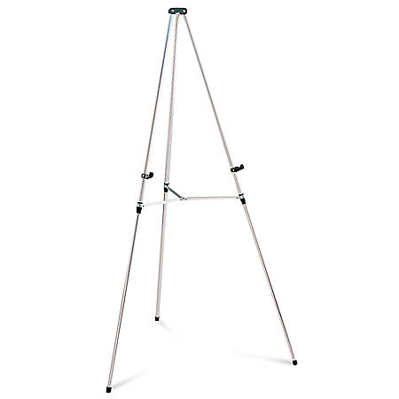 quartet aluminum lightweight telescoping display easel silver by