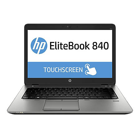 "HP EliteBook 840 G1 Refurbished Laptop, 14"" Touch Screen, Intel® Core™ i7, 8GB Memory, 240GB Solid State Drive, Windows® 10 Pro, H840G1TCI78240WP"