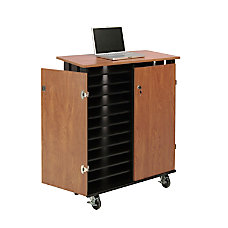 Oklahoma Sound Laptop ChargingStorage Cart CherryBlack