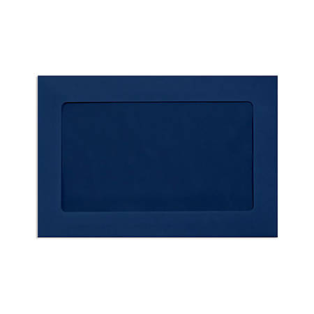 "LUX Full-Face Window Envelopes With Moisture Closure, #6 1/2, 6"" x 9"", Navy, Pack Of 250"