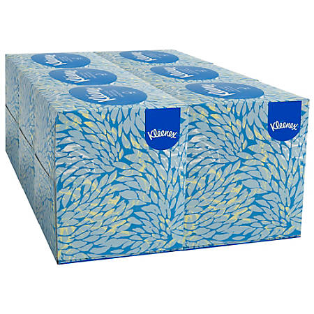 Kleenex® 2-Ply Facial Tissue, Boutique™ Box, 95 Tissues Per Box, Pack Of 6 Boxes