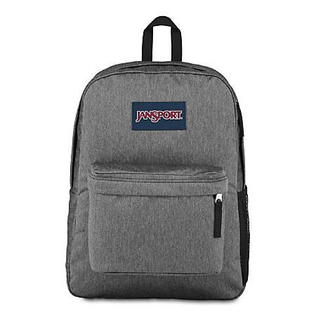"JanSport® HyperBreak Backpack With 15"" Laptop Pocket, Black/White Herringbone"