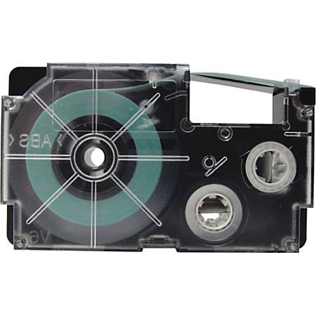 "Casio Label Printer Tape - 23/64"" Width x 26 ft Length - Black - 1 Each"