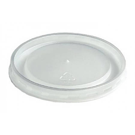 Huhtamaki High-Heat Vented Take-Out Lids, Translucent, Pack Of 1,000 Lids
