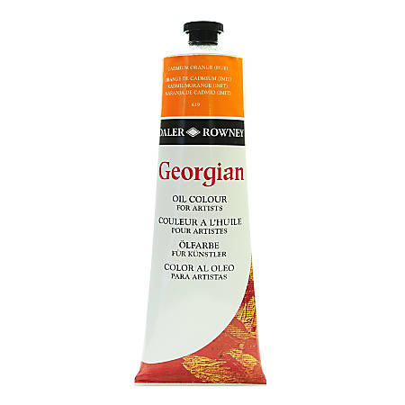 Daler-Rowney Georgian Oil Colors, 7.5 Oz, Cadmium Orange Hue