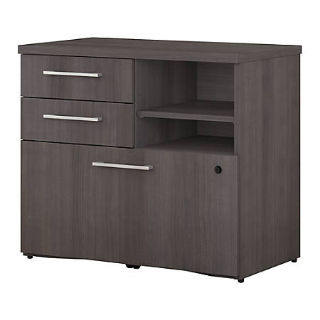 """Bush Business Furniture 400 Series File Cabinet, 30""""W, Storm Gray, Standard Delivery"""