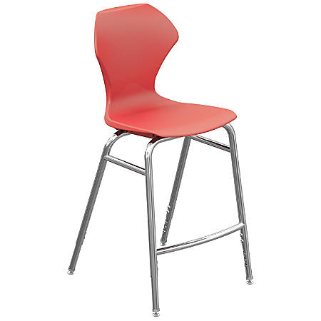 Marco Group Apex Series Adjustable Stool, Red/Chrome