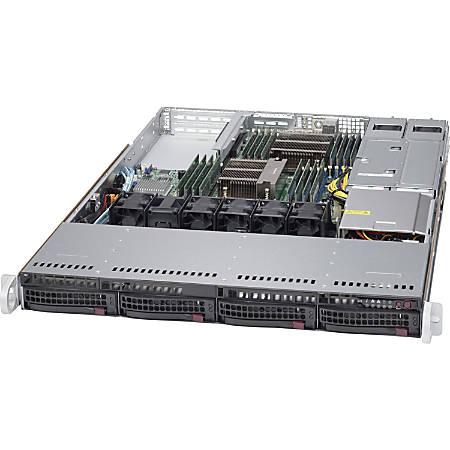 Supermicro SuperServer 6018R-WTR Barebone System - 1U Rack-mountable - Intel C612 Express Chipset - Socket LGA 2011-v3 - 2 x Processor Support - Black