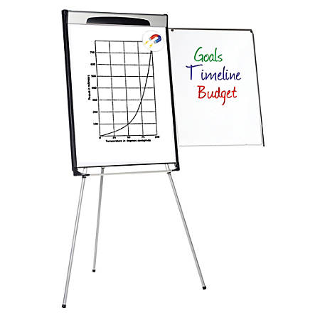 "MasterVision™ Gold Ultra™ Magnetic Tripod Easel, 29 1/2"" x 41"", Black/Gray"