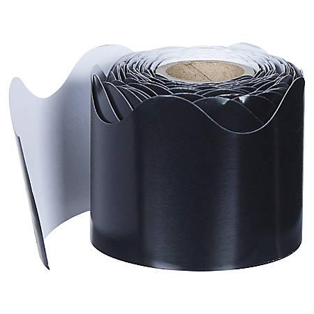 """Carson-Dellosa Plain Continuous-roll Scalloped Border - (Scalloped) Shape - 2.25"""" Width x 432"""" Length - Black - 1 Roll"""