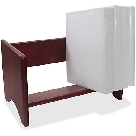 "Carver Wood Binder Rack - 16 x Binder - 1 Compartment(s) - 10"" Height x 17"" Width x 10"" Depth - Desktop - Mahogany - Hardwood - 1Each"