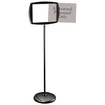 "MasterVision® Easy-Clean Adjustable Sign Stand, 39 7/16""H x 15 1/4""W, Silver/Black"