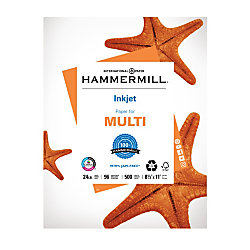 "Hammermill® Inkjet Paper, Letter Size (8 1/2"" x 11""), 24 Lb, Ream Of 500 Sheets"