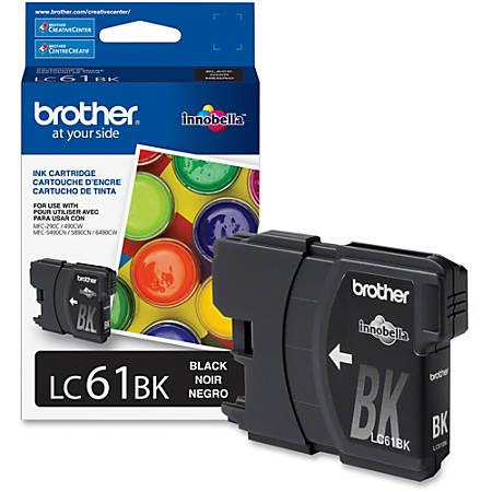 Brother Innobella LC61BK Ink Cartridge - Inkjet - 450 Pages - Black - 1 Each