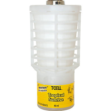 Rubbermaid Commercial TCell Dispenser Fragrance Refill - Tropical Sunrise - 60 Day - 1 Each - Odor Neutralizer