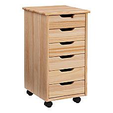 Linon Casimer 6 Drawer Rolling Storage