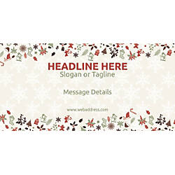 Custom Horizontal Banner Christmas Elements