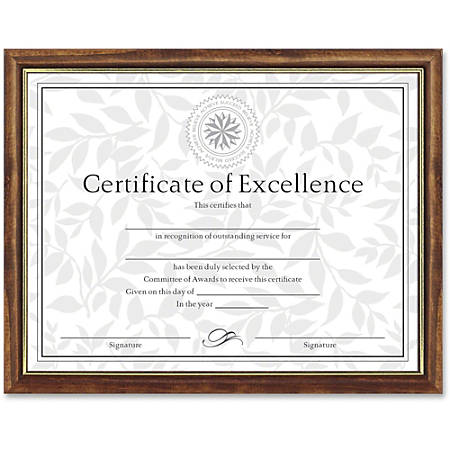 """Dax Burns Group Two-tone Certificate Frame - 11"""" x 8.50"""" Frame Size - Rectangle - Wall Mountable - Vertical, Horizontal - Durable - 1 Each - Solid Wood - Maple, Gold"""