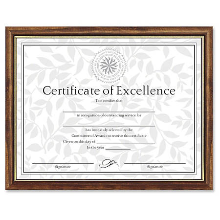 "Dax Burns Group Two-tone Certificate Frame - 11"" x 8.50"" Frame Size - Rectangle - Wall Mountable - Vertical, Horizontal - Durable - 1 Each - Solid Wood - Maple, Gold"
