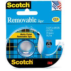 Scotch Removable Tape 075 x 18