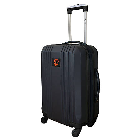 "Mojo L208 ABS Carry-On Hardcase Spinner, 21""H x 14""W x 9-1/2""D, San Francisco Giants, Black"