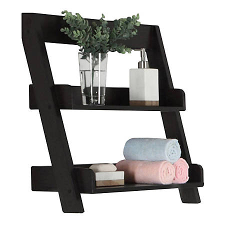 "Monarch Specialties Damian Bathroom Accent Shelf, 23-1/2""H x 25-1/4""W x 9""D, Cappuccino"