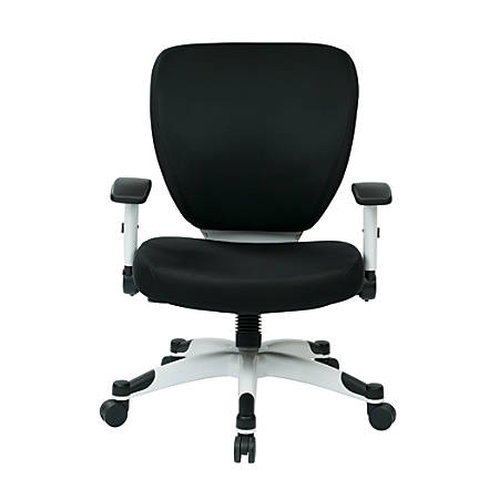 Office Star™ Space Seating Professional Deluxe Mesh Mid-Back Task Chair, Black/White