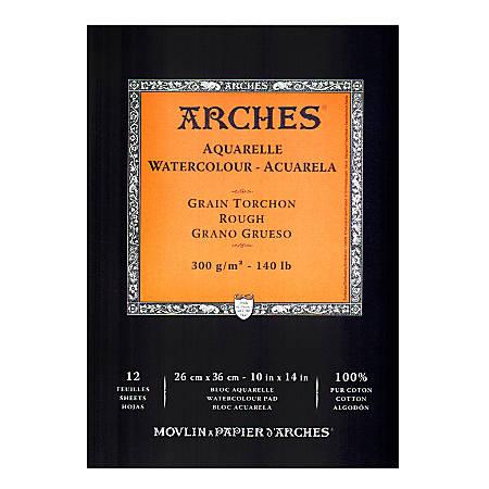"Arches® Watercolor Pad, 10"" x 14"", Rough, 140 Lb, White"