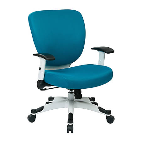 Office Star™ Space Seating Professional Deluxe Mesh Mid-Back Task Chair, Blue/White