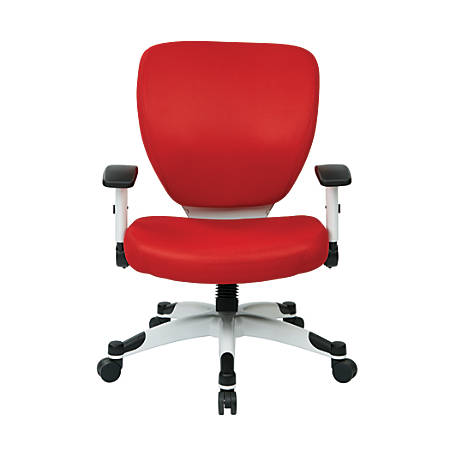 Office Star™ Space Seating Professional Deluxe Mesh Mid-Back Task Chair, Red/White