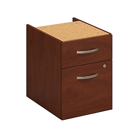 Bush Business Furniture Components Elite 2 Drawer 3/4 Pedestal, Hansen Cherry, Premium Installation