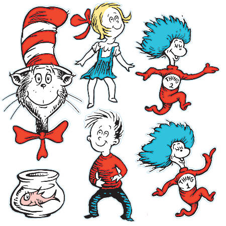 Eureka 2-Sided Decorations, Dr. Seuss™ Characters, Multicolor, Pre-K To Grade 8, Pack Of 6