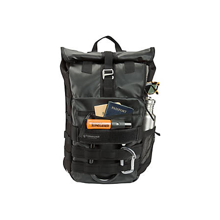 """Timbuk2 Spire Carrying Case (Backpack) for 15"""" MacBook Pro - Black - Nylon, Thermoplastic Polyurethane (TPU), Canvas - 18.7"""" Height x 12.4"""" Width x 5.1"""" Depth"""
