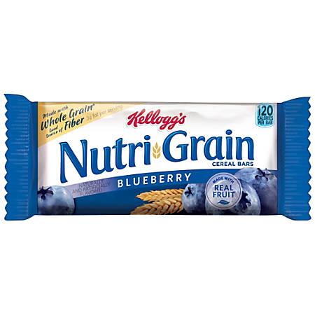 Kellogg's® Nutri-Grain Bars, Blueberry, 1.3 Oz, Box Of 16