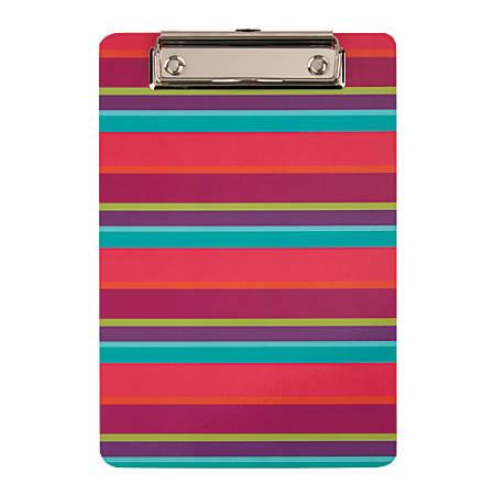 "Office Depot® Brand Memo-Size Fashion Clipboard, 6""H x 9""W x 1/4""D, Stripes"