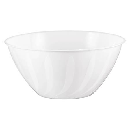 "Amscan 2-Quart Plastic Bowls, 3-3/4"" x 8-1/2"", Frosty White, Set Of 8 Bowls"