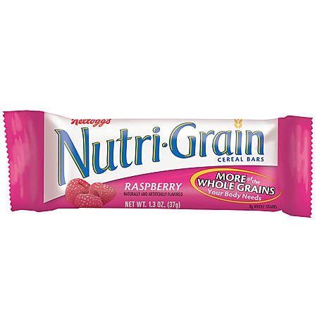 Kellogg's® Nutri-Grain Bars, Raspberry, 1.3 Oz, Box Of 16