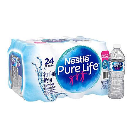 Nestlé® Pure Life Purified Bottled Water, 16.9 Oz, Case Of 24 Bottles