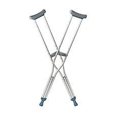 DMI Push Button Aluminum Crutches Tall