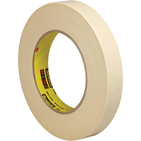 """3M™ 202 Masking Tape, 3"""" Core, 0.75"""" x 180', Natural, Pack Of 6"""