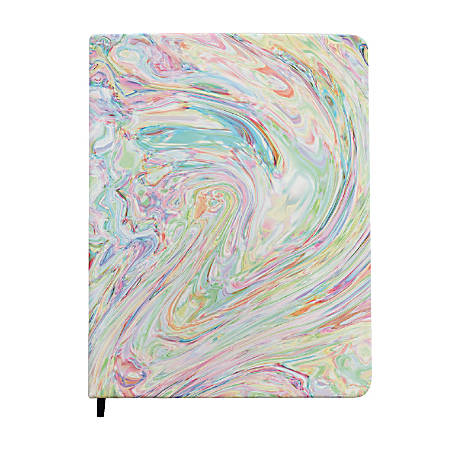 "Denik Faux Leather Notebook, 8"" x 11"", College Rule, 150 Pages (75 Sheets), Multicolor"