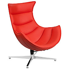 Flash Furniture Cocoon Swivel Chair RedSilver