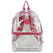 Eastsport Clear PVC Backpack Red