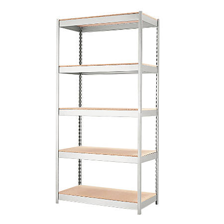 "Hirsh® Industries 1000 Series 5-Shelf Unit, 36""W, Silver"