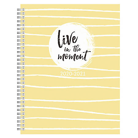 "Office Depot® Weekly/Monthly Academic Planner, 8-1/2"" x 11"", Wellness, July 2020 To June 2021"