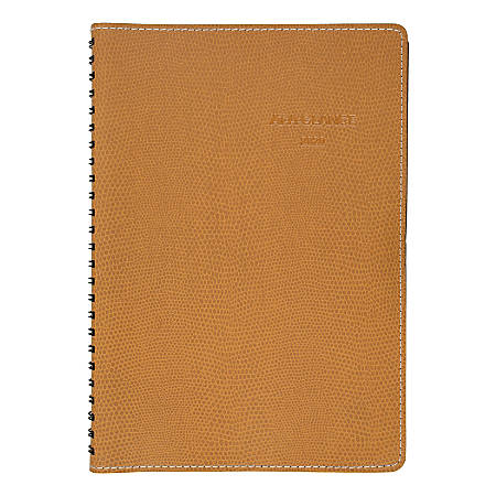"""AT-A-GLANCE® Weekly/Monthly Appointment Book/Planner, 5-1/2"""" x 8-1/2"""", Brown/Faux Lizard, January To December 2020, 353122001"""