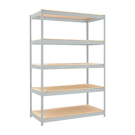 """Hirsh® Industries 1500 Series Steel Shelving, 5 Shelves, 48""""W, Gray"""