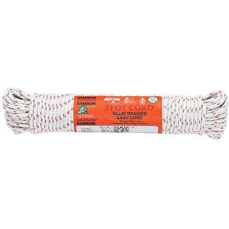 Samson Rope Cotton Core Sash Cords, 100', White, Pack Of 2 Cords