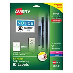 Avery Easy Align Self Laminating ID